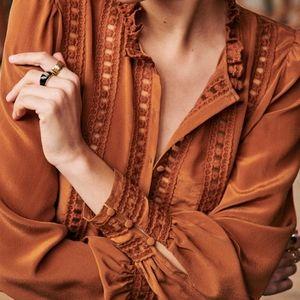 Sezane Anna blouse in caramel